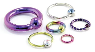 Captive Bead Oval Ring